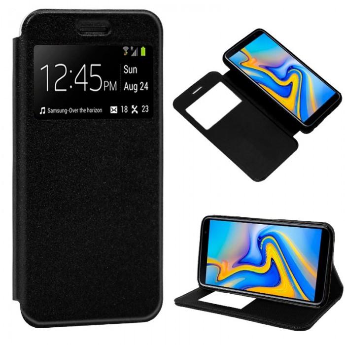 3ccc8b0a892 Funda Flip Cover Samsung J610 Galaxy J6 Plus Liso Negro - Smarty You ...