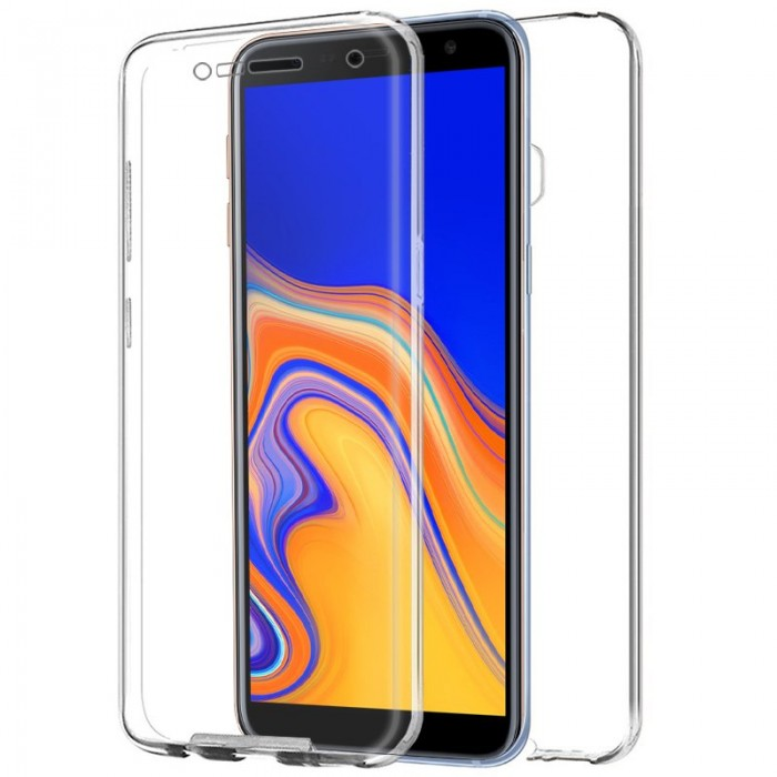Funda Silicona 3D Samsung J415 Galaxy J4 Plus (Transparente Frontal + Trasera)