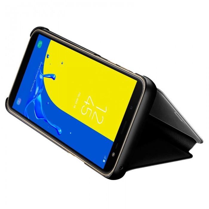Funda Flip Cover Samsung J600 Galaxy J6 Clear View Negro