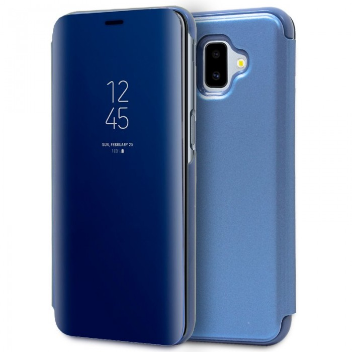 eb154fd96d9 ... Funda Flip Cover Samsung J610 Galaxy J6 Plus Clear View Azul