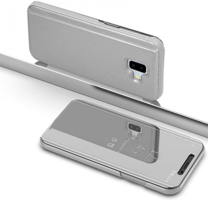 059e310f71f Funda Flip Cover Samsung J610 Galaxy J6 Plus Clear View Plata ...