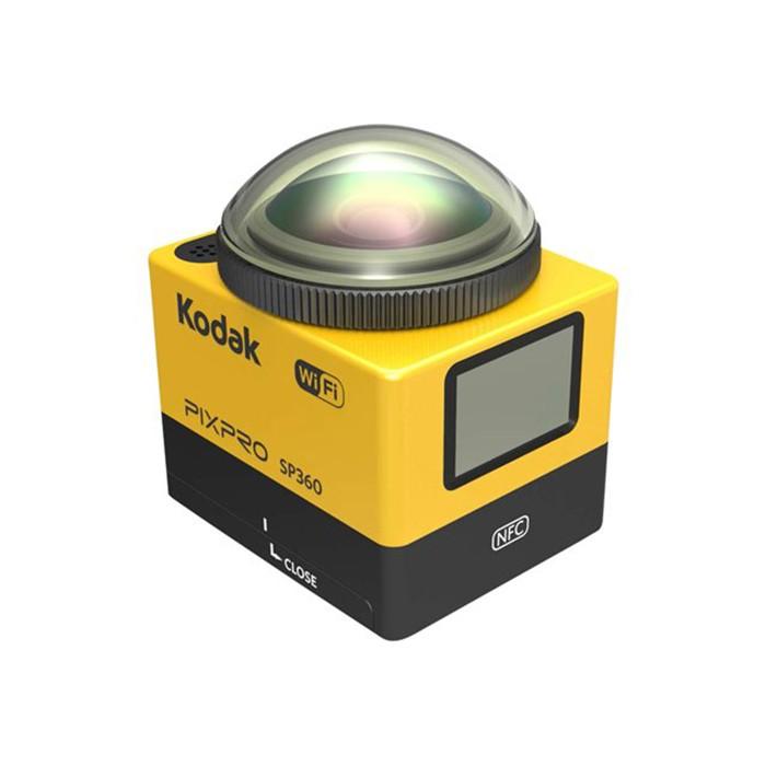 Kodak PIXPRO SP360 - Explorer Pack - cámara de acción - para montaje - 1080p - 16.36 MP - Wi-Fi, NFC - amarillo
