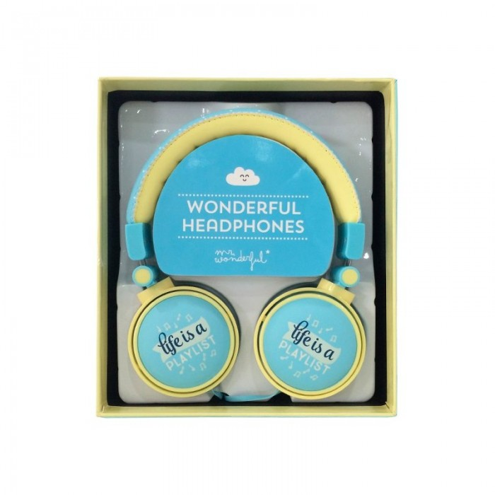 Auriculares Cascos Jack 3,5 mm Licencia Mr. Wonderful Stereo Universal Azul