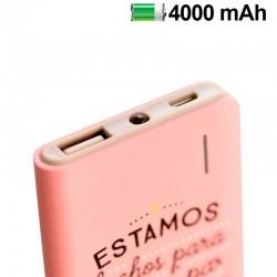 Bateria Externa Micro-usb Power Bank 4000 mAh Licencia Mr Wonderful Rosa