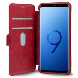 Funda Flip Cover Samsung G960 Galaxy S9 Leather Rojo