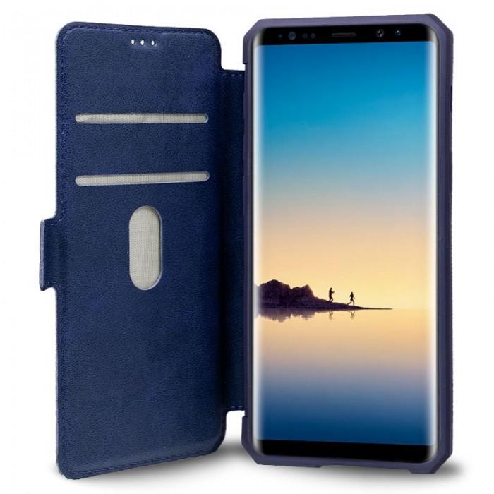 Funda Flip Cover Samsung N950 Galaxy Note 8 Leather Azul