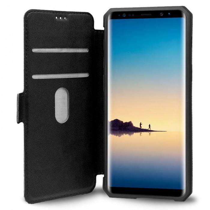 Funda Flip Cover Samsung N950 Galaxy Note 8 Leather Negro