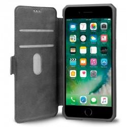 Funda Flip Cover iPhone 7 Plus / iPhone 8 Plus Leather Gris