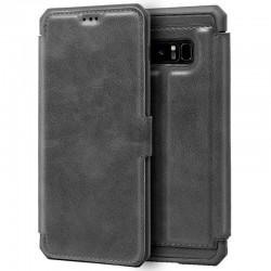 Funda Flip Cover Samsung N950 Galaxy Note 8 Leather Gris