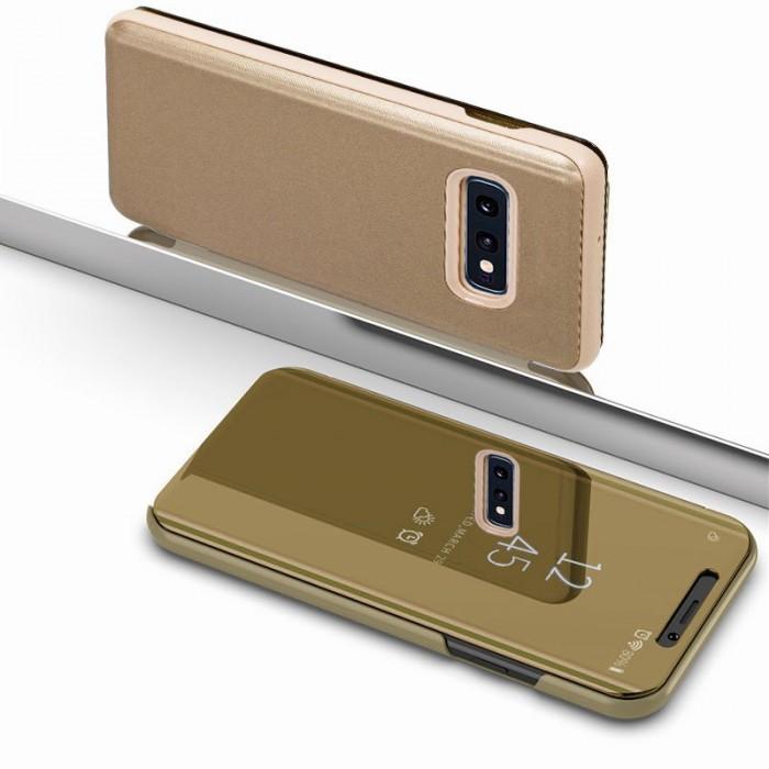Funda Flip Cover Samsung G970 Galaxy S10e Clear View Dorado