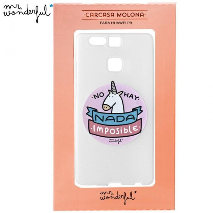 Carcasa Huawei P9 Licencia Mr Wonderful Unicornio