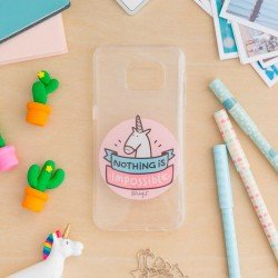 1f5f7f0e80e Carcasa Samsung G935 Galaxy S7 Edge Licencia Mr Wonderful Unicornio  Transparente