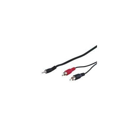 CABLE AUDIO 2xRCA-M A 1xJACK-3.5-M 15M