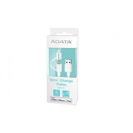CABLE LIGHTING+MICRO USB (B) A USB ADATA 1M BLANCO