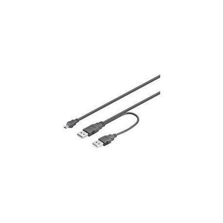 CABLE 2XUSB(A) 2.0 A MINI USB(B) 2.0 GOOBAY 1M