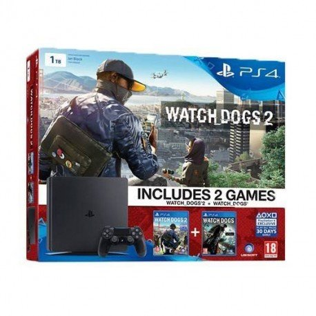VIDEOCONSOLA SONY PS4 1TB SLIM + JUEGOS WATCHDOGS