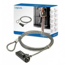 CABLE SEGURIDAD PORTATIL LOGILINK PC LOCK 1.5M