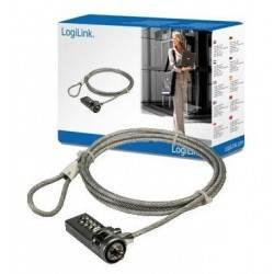 CABLE SEGURIDAD PORTATIL LOGILINK PC LOCK 1.5M