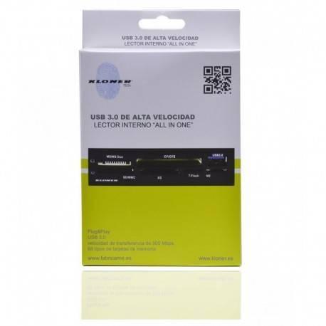 LECTOR TARJETA INT 3.5 KL-TECH MULTITARJ USB 3.0