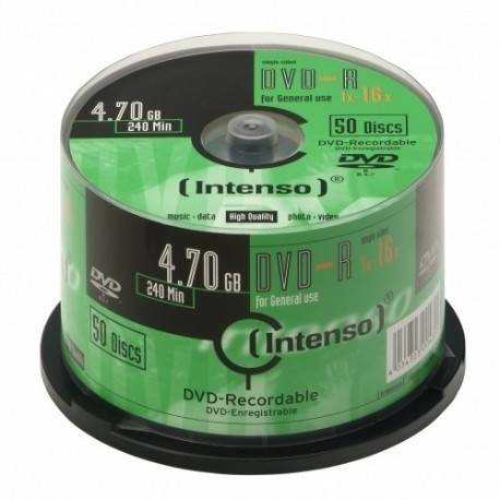 CONSUMIBLE INTENSO DVD-R 4.7GB 50PCS 16X TARRINA