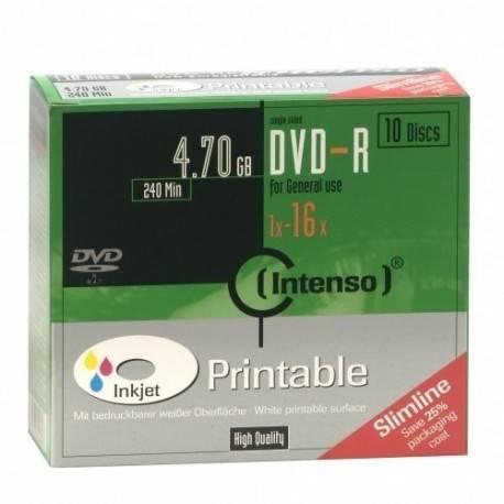 CONSUMIBLE INTENSO DVD-R 4.7GB 10PCS 16X CAJA SLIM