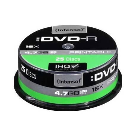 CONSUMIBLE INTENSO DVD-R 4.7GB 25PCS 16X TARRINA