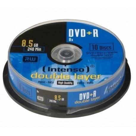 CONSUMIBLE INTENSO DVD+R 8.5GB DL 10PCS 8X TARRINA