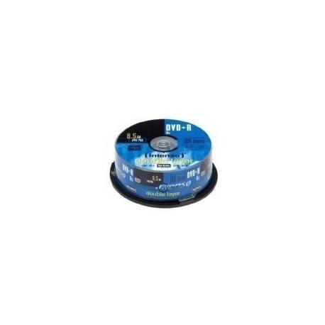 CONSUMIBLE INTENSO DVD+R 8.5GB DL 25PCS 8X TARRINA