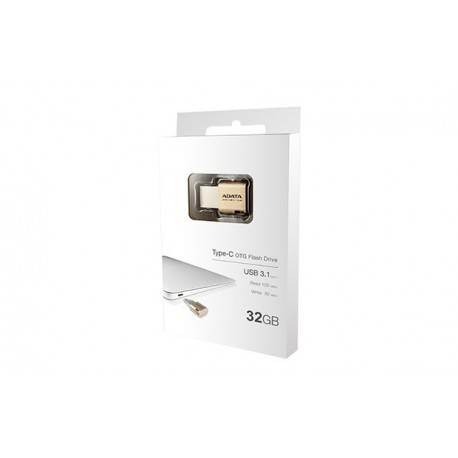 PENDRIVE 32GB USB3.1 (C) ADATA UC350 ALUMINIO GOLD