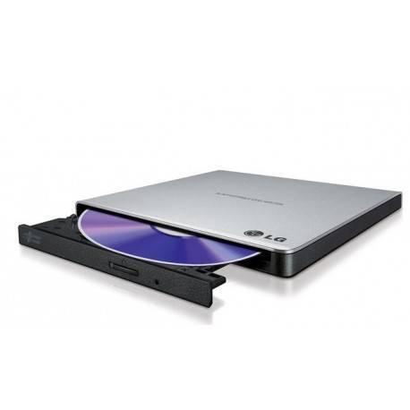 REGRABADORA USB DVDRW LG EXTERNA SLIM GRIS/NEGRO