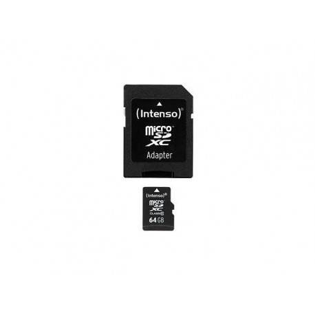 MEM MICRO SD 64GB INTENSO CL10 + ADAPT SD
