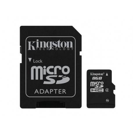 MEM MICRO SDHC 8GB KINGSTON CL 4 + ADAPT R/W : 4M