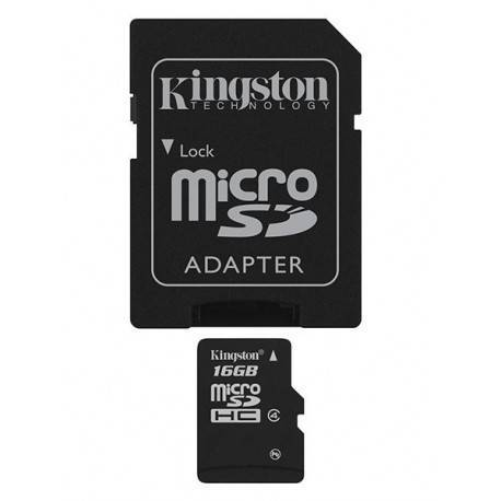 MEM MICRO SDHC 16GB KINGSTON CL 4 + ADAPT