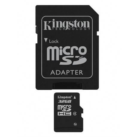 MEMORIA MICRO SDHC 32GB KINGSTON CL4 + ADAPT R/W: