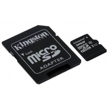 MEM MICRO SDHC 32GB KINGSTON CL10 UHS-I (U1)+ADAPT