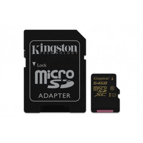 MEM MICRO SD 64GB KINGSTON CL10 UHS-I(U1)+ADAPT SD