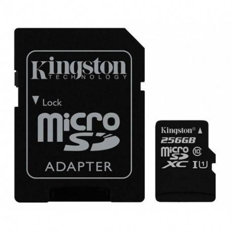 MEM MICRO SD 256GB KINGSTON CL10 GEN2 + ADAPT SD