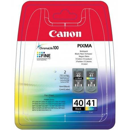 CARTUCHO ORIG CANON PACK PG-40/CL-41 NEGRO/COLOR