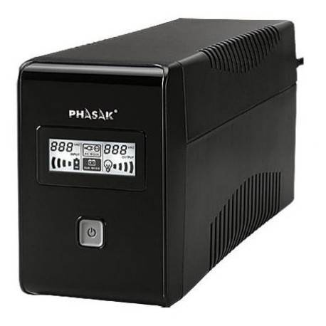 SAI 850VA PHASAK INTERACTIVO 2XSCHUKO PH 9485
