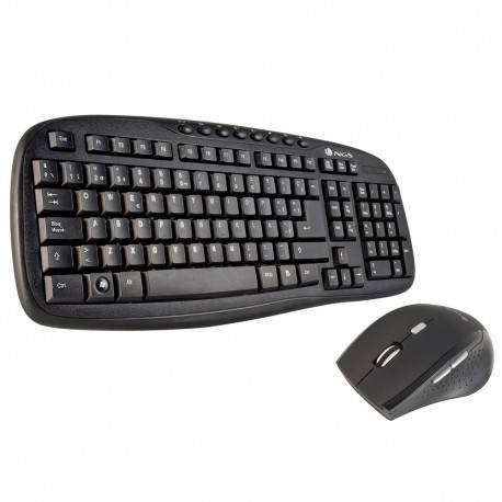 TECLADO + RATON NGS WIRELESS HERO KIT USB