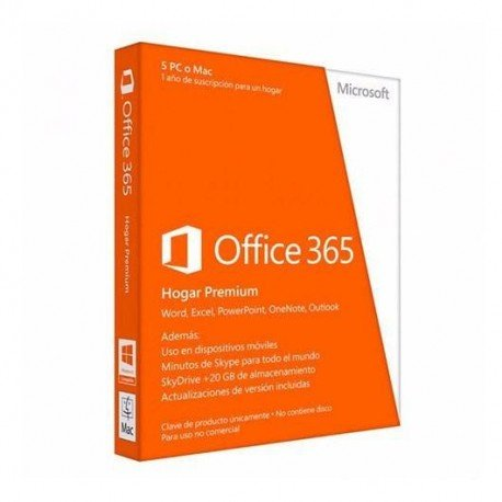 SOFTW MICROSOFT OFFICE 365 HOME 32/64BITS SPANISH