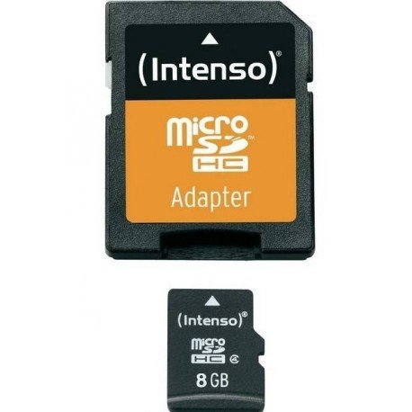 MEM MICRO SD 8GB INTENSO CL4 + ADAPT SD