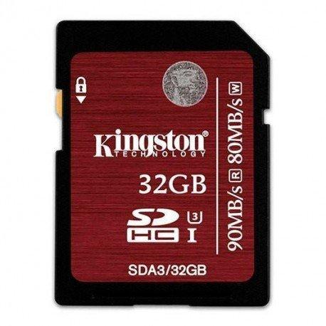MEMORIA SD 32GB SDCH KINGSTON CL3 UHS-I(U3)