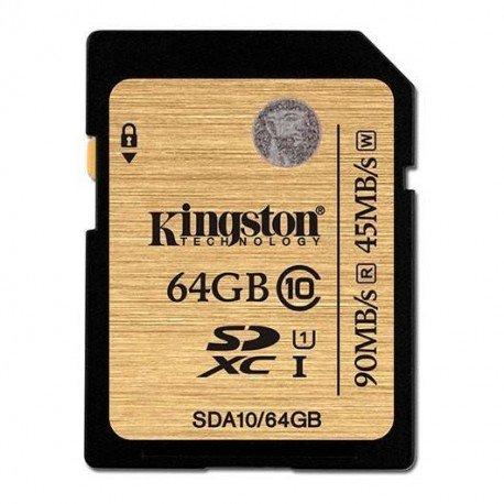 MEMORIA SD 64GB SDXC KINGSTON CLASE 10 UHS-I