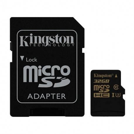 MEM MICRO SDHC GOLD 32GB KINGSTON UHS-I (U3)+ADAPT
