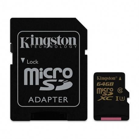 MEM MICROSD GOLD 64GB KINGSTON UHS-I CL3(U3)+ADAPT