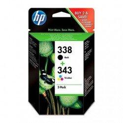 CARTUCHO ORIG HP Nº 338 NEGRO+343TRICOLOR SD449EE