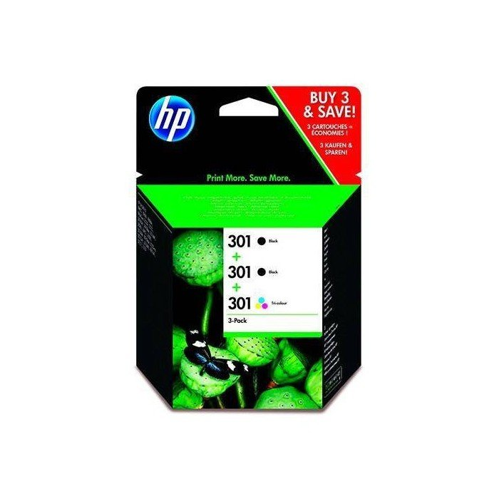 CARTUCHO ORIG HP Nº 301 NEGRO+Nº301 TRICOLOR PACK3