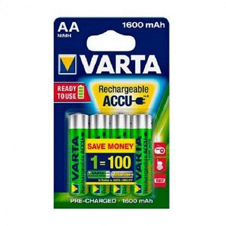PILAS RECARGABLES VARTA AA 1600MAH PACK 4