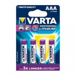 PILAS LITIO VARTA AAA 1100MAH PACK 4